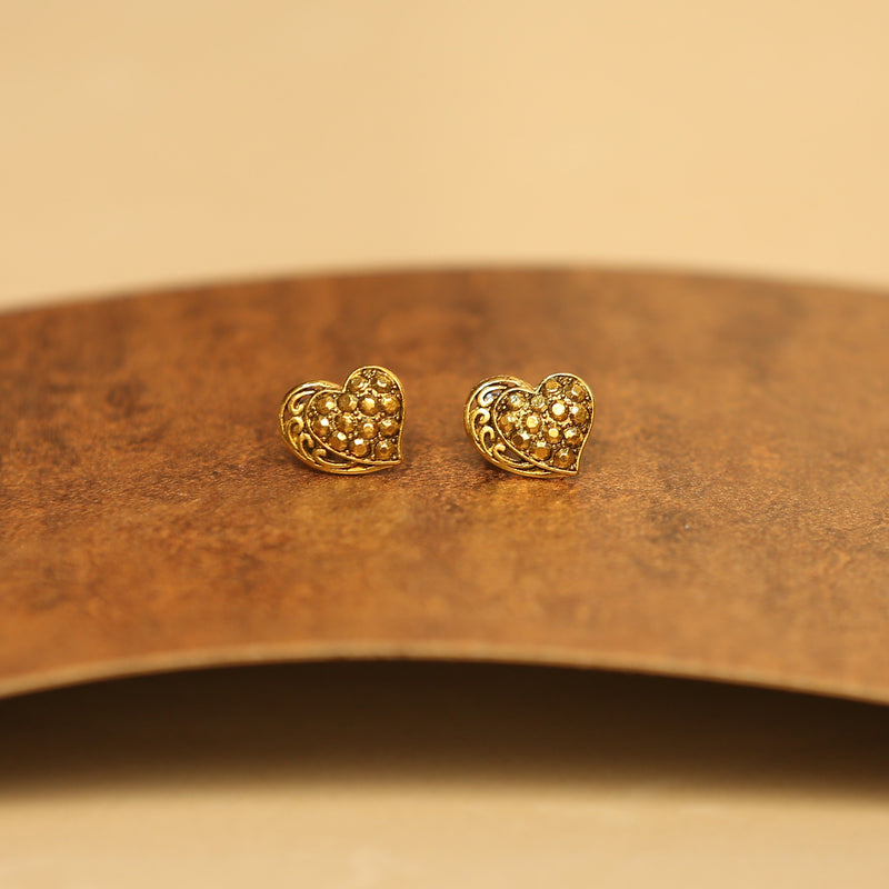Hymba Gold Ozidised Earrings Combo 1