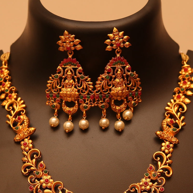 Classic Antique Finish Lakshmi Aaram Set