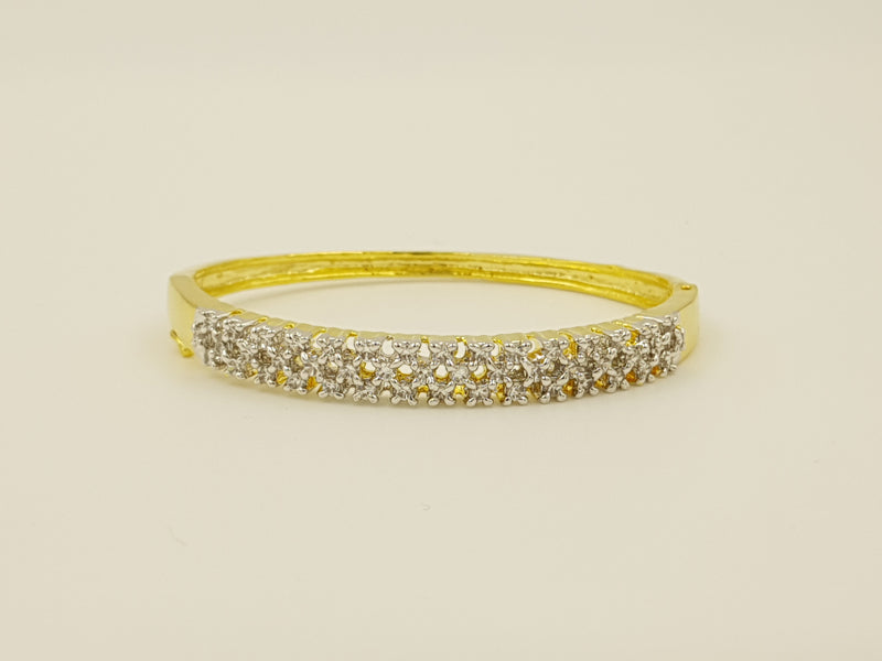 American Diamond Gold Plated Bracelet