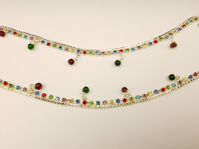 Mutilcolored Stone & Bead Anklet
