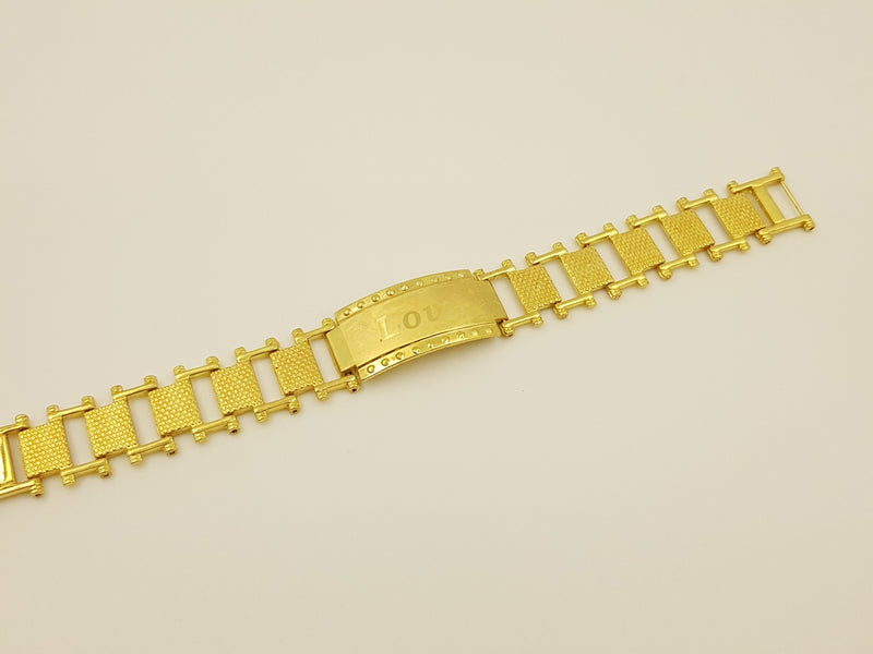 Gold Coloured Watch Model Bracelet