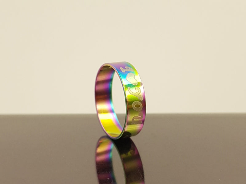 Engraved Love Ring