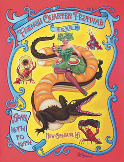 2020 French Quarter Festival Poster - Limited Edition
