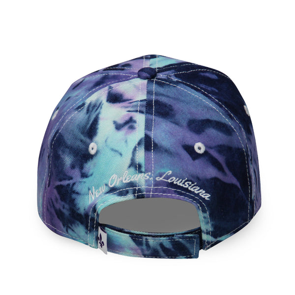 French Quarter Festival Headwear Tie-Dye Zydeco Velcro Closure Hat Cap - Back