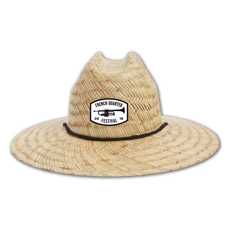 French Quarter Festival Headwear Funky Straw Hat - Front