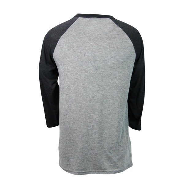 French Quarter Festival Adult Men's Gray Baseball Raglan Tee - Back