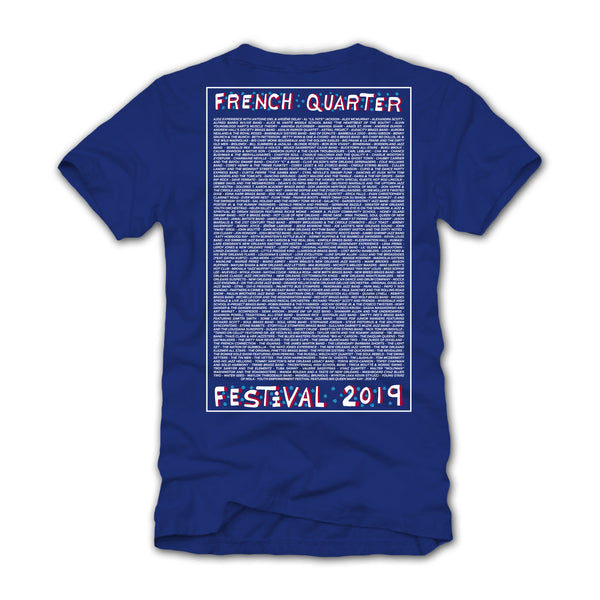 French Quarter Festival 2019 Event Line Up T-Shirt - Back
