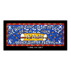 2016 French Quarter Festival Simon Poster - Front