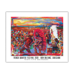 French Quarter Festival Novelty 2018 Poster - Front