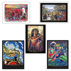 French Quarter Festival Five Years Of Event Posters - Front