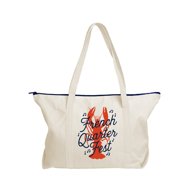 French Quarter Festival Novelty Canvas Rockin' Tote - Front