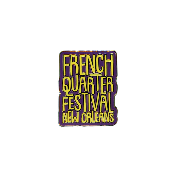 French Quarter Festival Novelty Get Jazzed Pin - Front