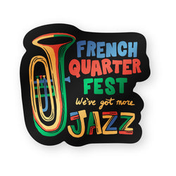 French Quarter Festival Novelty More Jazz Magnet - Front