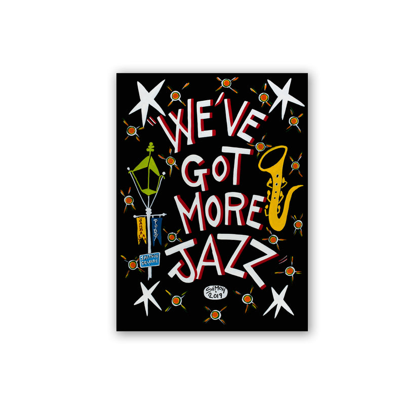 French Quarter Festival Novelty Local Art Magnet - Front