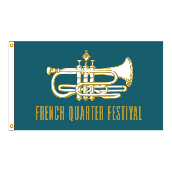 French Quarter Festival Novelty Official Logo Flag - Front