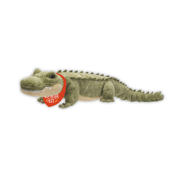 French Quarter Festival Novelty Gator Plush Toy - Front