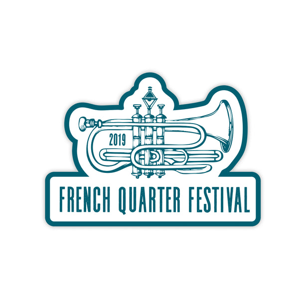 French Quarter Festival Novelty FQF Logo Sticker Decal - Front