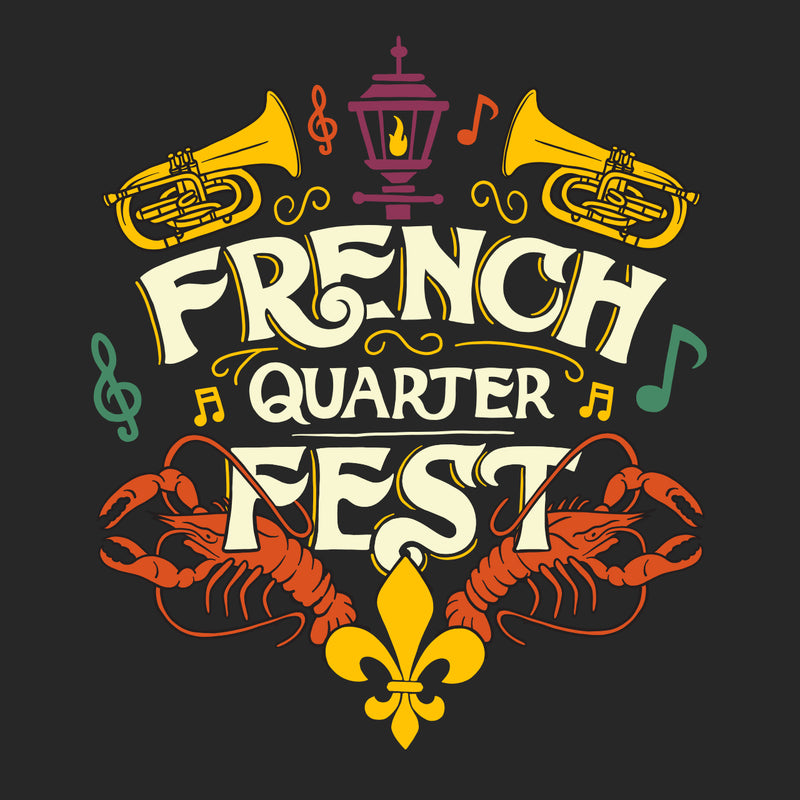 French Quarter Festival Adult Women's Big Easy High Low Hem T-Shirt Tee - Detail