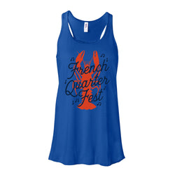 French Quarter Festival Adult Women's Royal Blue Rockin' Tank - Front