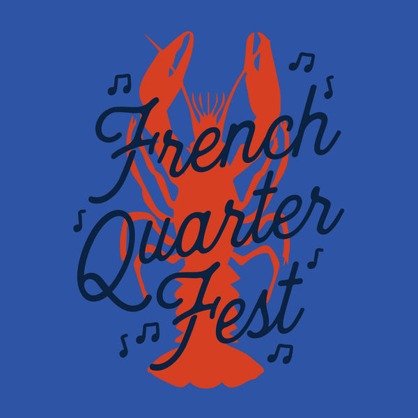 French Quarter Festival Adult Women's Royal Blue Rockin' Tank - Detail