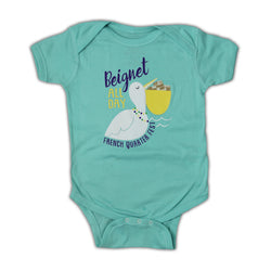 French Quarter Festival Youth Beignet All Day Onesie - Front