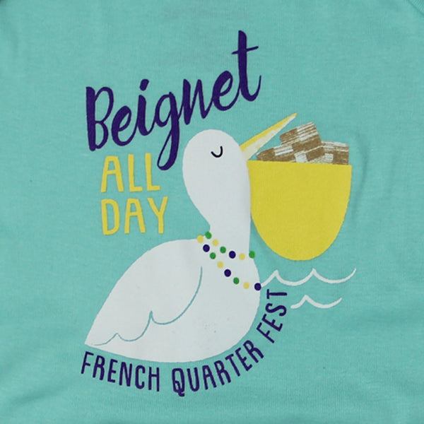 French Quarter Festival Youth Beignet All Day Onesie - Detail