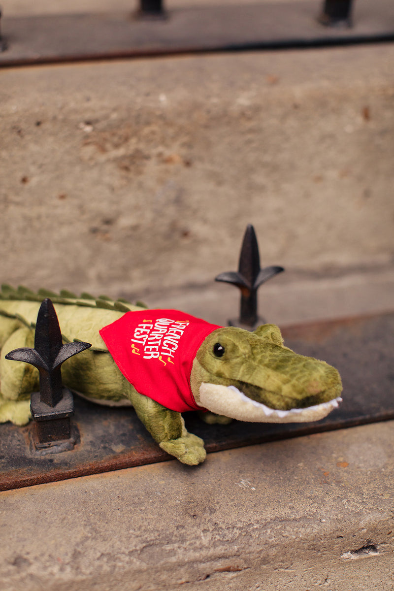French Quarter Festival Novelty Gator Plush Toy - Lifestyle