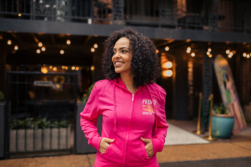 French Quarter Festival Outerwear Adult Women's Pink In Tune Full Zip Hoodie - Lifestyle