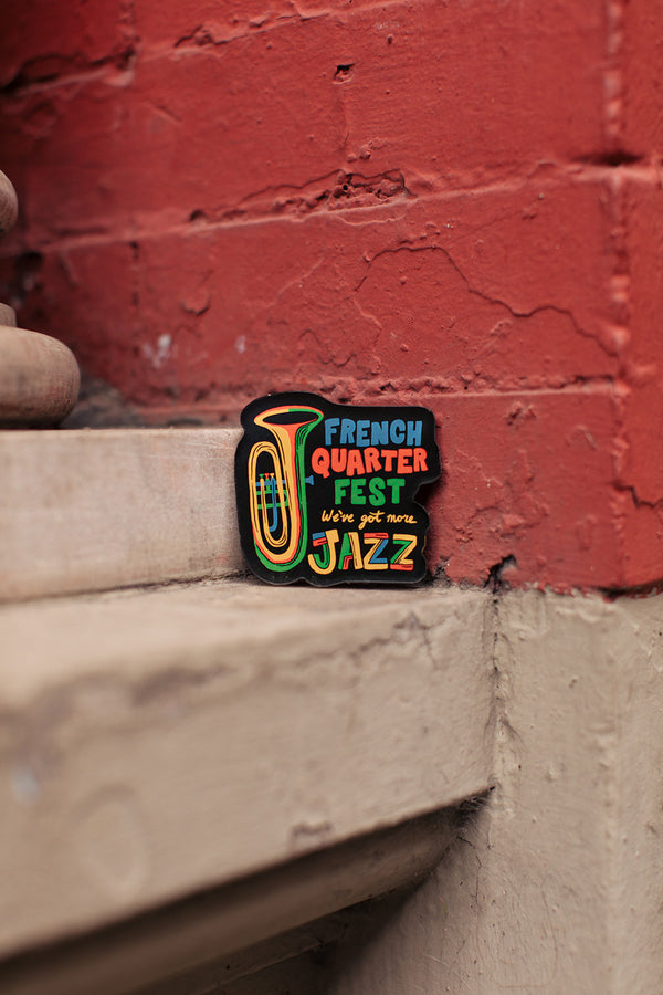 French Quarter Festival Novelty More Jazz Magnet - Lifestyle