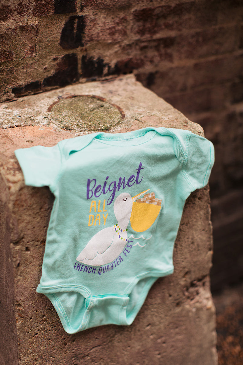 French Quarter Festival Youth Beignet All Day Onesie - Lifestyle