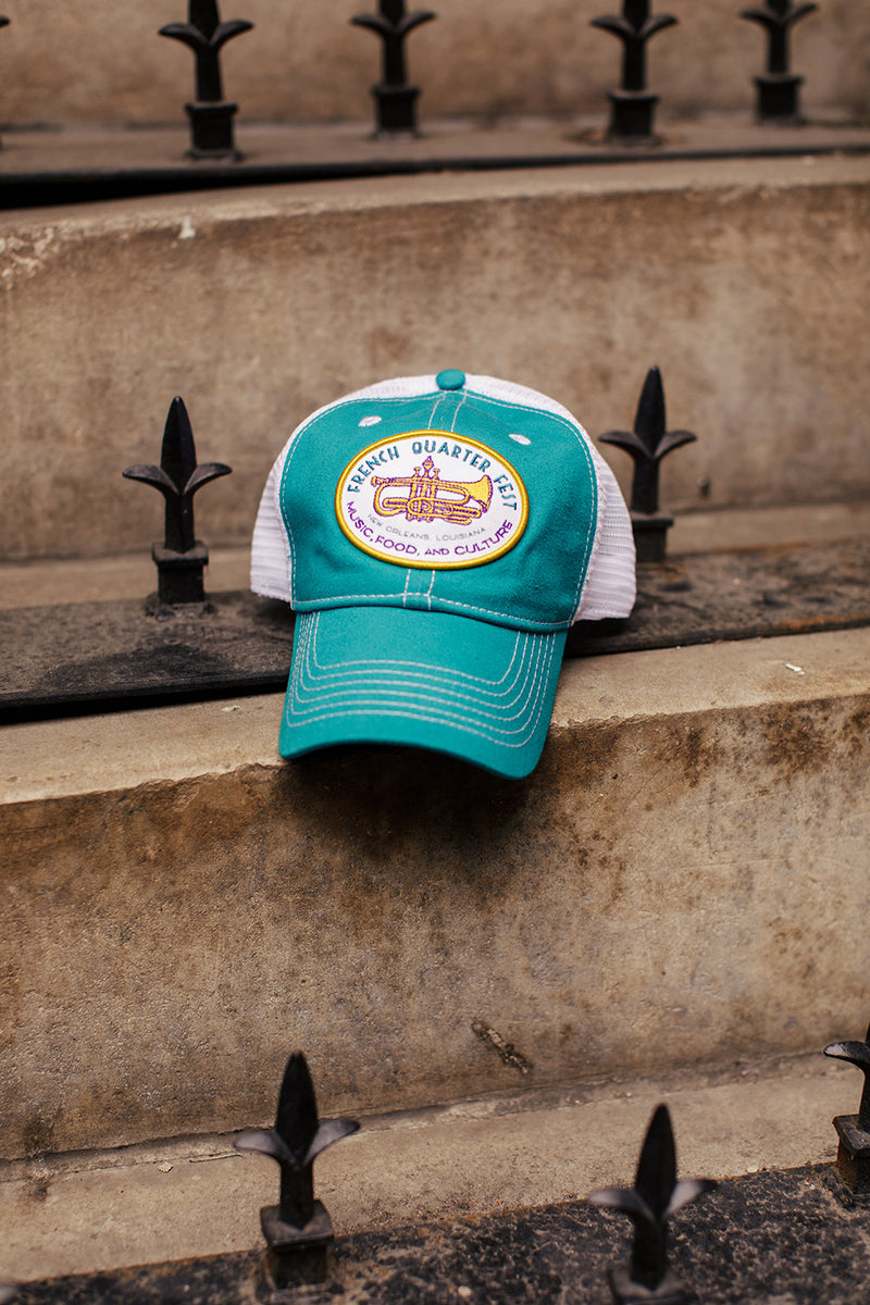 French Quarter Festival Headwear Teal Soul Snapback Hat Cap With Mesh Back - Lifestyle