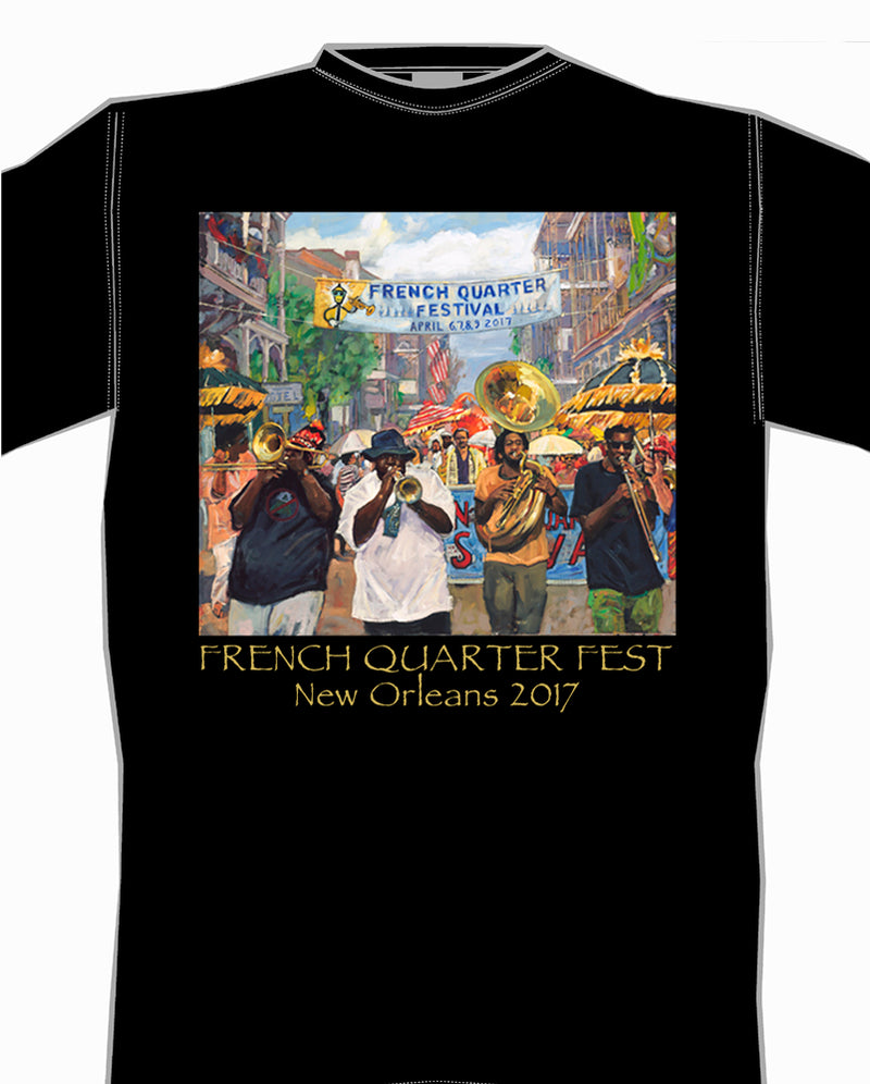 2017 French Quarter Festival Poster T-Shirt