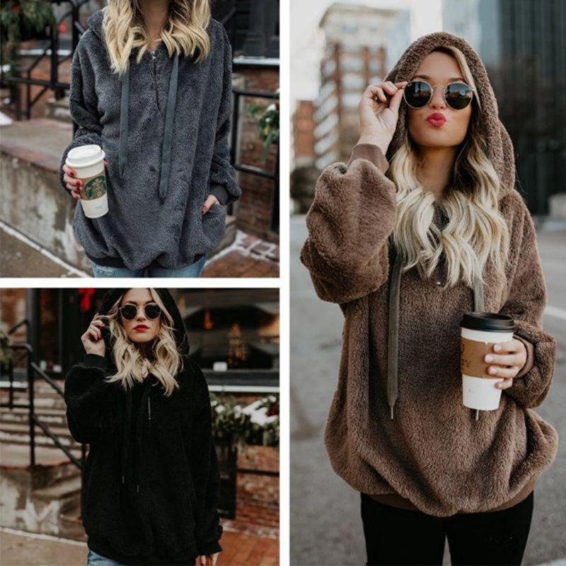 Logiid 50% OFF LAST TWO DAYS🔥 Women's oversized cashmere pullover hoodie