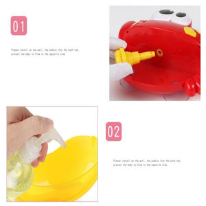 Logiid Automatic Bubble Music Machine Crabs Kids Bath Toy