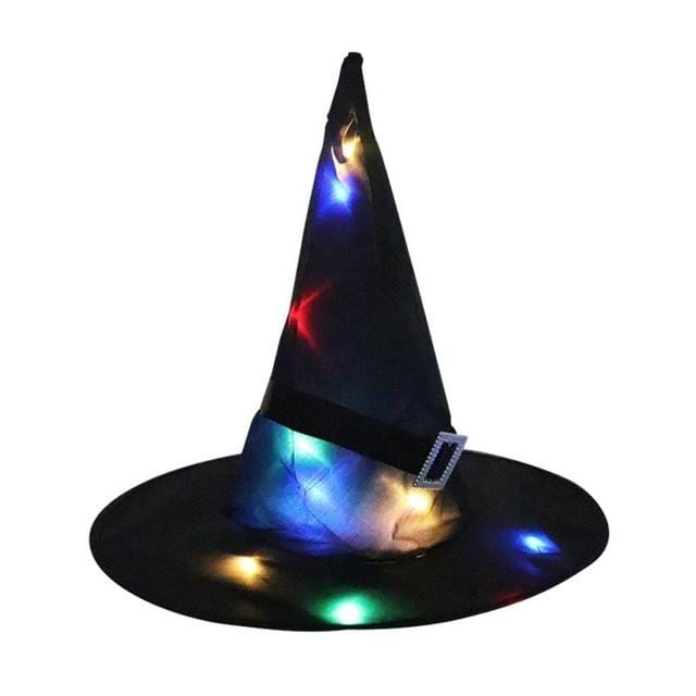 Logiid Black / 1pcs Halloween Decoration Witch Hats LED Lights Cap