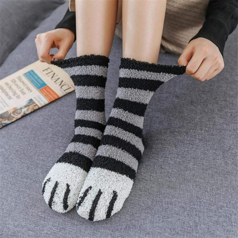 Logiid (Black Friday Hot Sale)Winter Cat Claws Cute Thick Warm Sleep Floor Sock