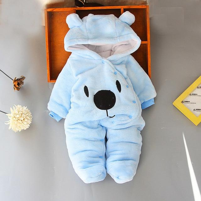 Logiid Blue / 3M Winter Newborn toddle Bear Romper Boy girls 0-18M