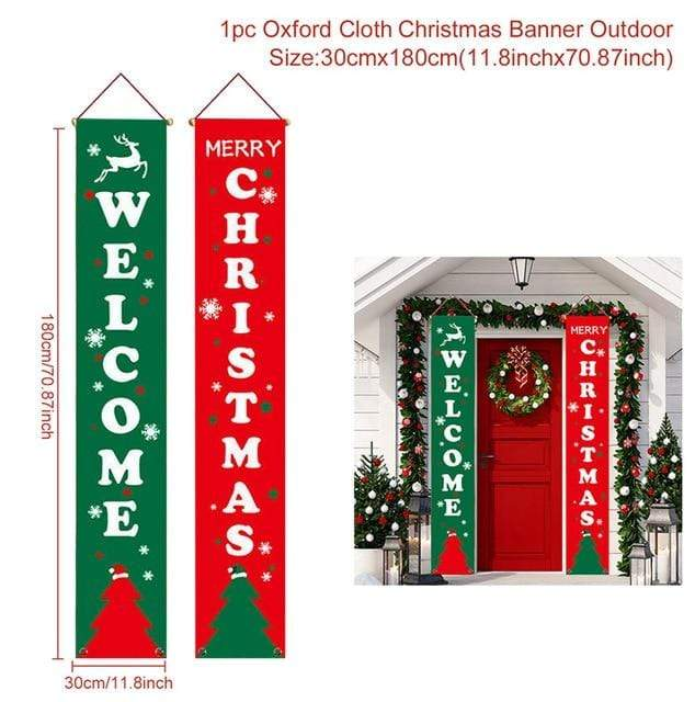 Logiid Christmas style 2020 Nutcracker Soldier Banner Christmas Decor For Home