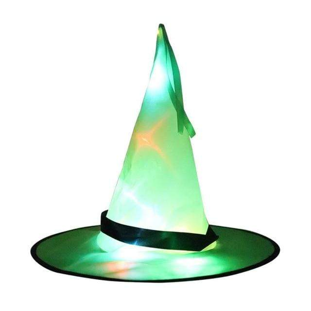 Logiid Green / 1pcs Halloween Decoration Witch Hats LED Lights Cap
