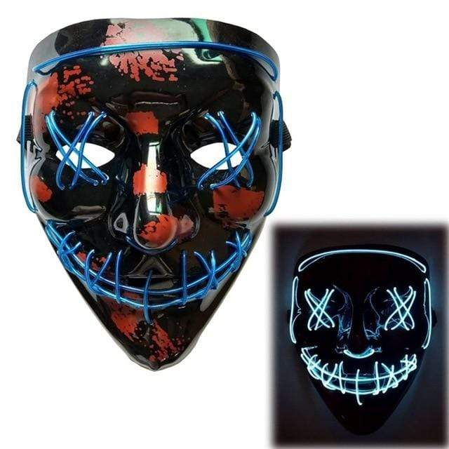 Logiid Halloween-Blue / United States Halloween LED Mask Best gift 2020