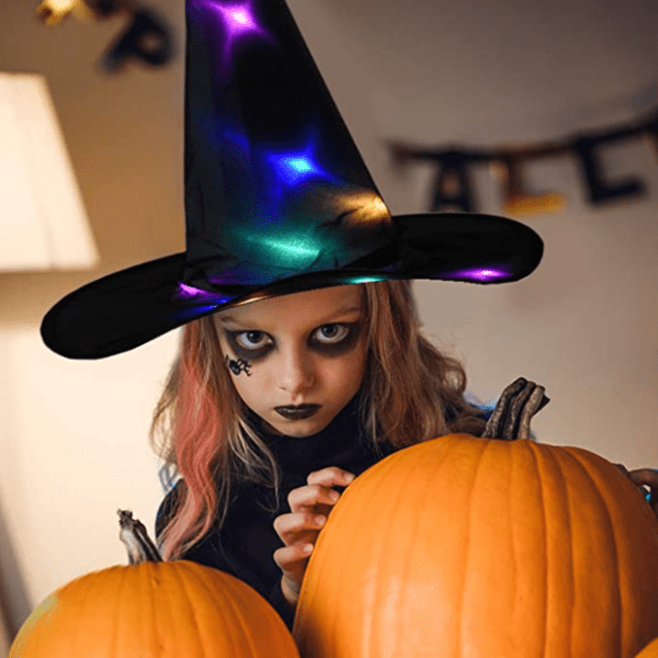 Logiid Halloween Decoration Witch Hats LED Lights Cap