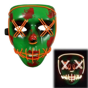 Logiid Halloween- Green / United States Halloween LED Mask Best gift 2020