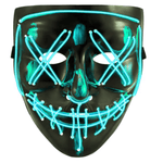Logiid Halloween-Light Blue / United States Halloween LED Mask Best gift 2020