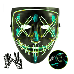 Logiid Halloween-Light Green / United States Halloween LED Mask Best gift 2020
