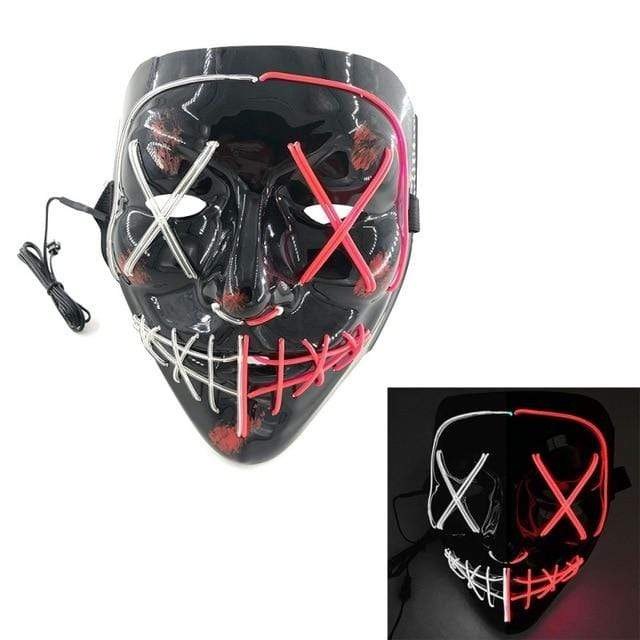 Logiid Halloween-Red / United States Halloween LED Mask Best gift 2020