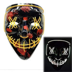 Logiid Halloween- Yellow / United States Halloween LED Mask Best gift 2020