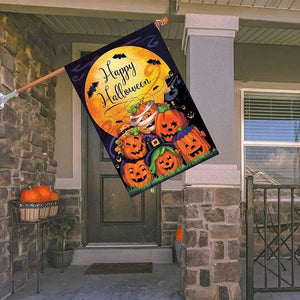 Logiid House-Flag(70*100cm) Halloween Pumpkin flag