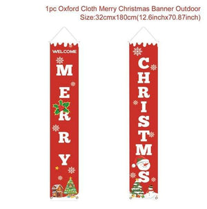 Logiid Merry Christmas 2020 Nutcracker Soldier Banner Christmas Decor For Home