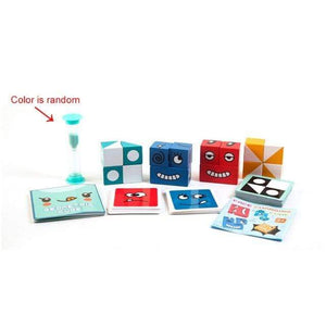 Logiid no box 2 Montessori Educational Toys Wooden Expression Magic Puzzled Cube