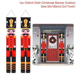 Logiid Nutcracker Soldier 2020 Nutcracker Soldier Banner Christmas Decor For Home